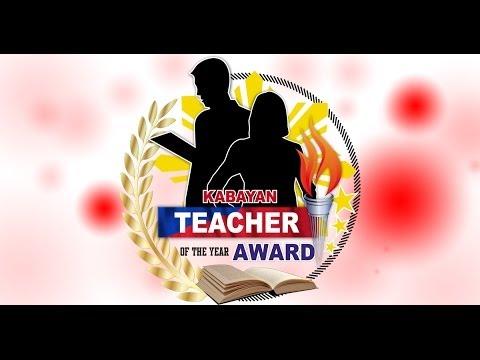 Kabayan Teacher of the Year Award 2016