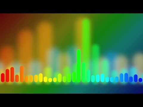 Rainbow Music Equalizer - HD animated background #106
