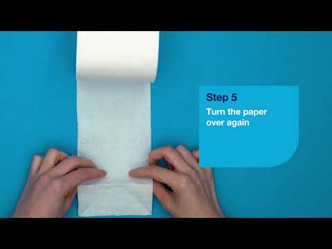 86bcf78a8 Tork - Toilet Paper Origami Butterfly folding - YouTube