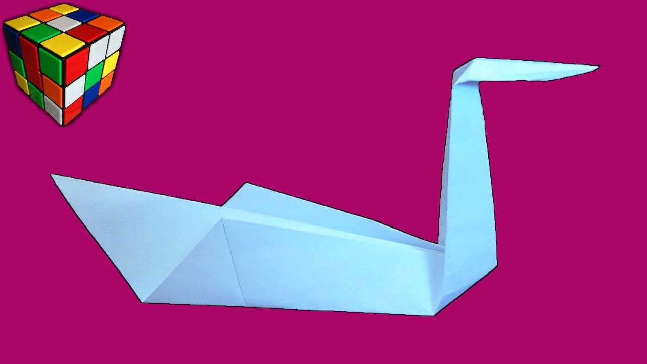 Как сделать ЛЕБЕДЯ из бумаги. Лебедь оригами своими руками. Поделки из бумаги