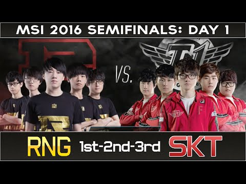 Semifinals | SKT1 vs RNG | Game 1-2-3 | 2016 MSI:Day 1 - League of Legend