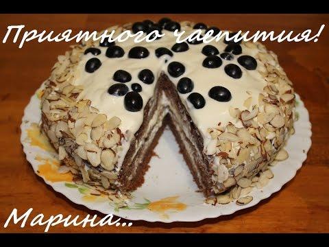 Шоколадно сметанный торт в мультиварке