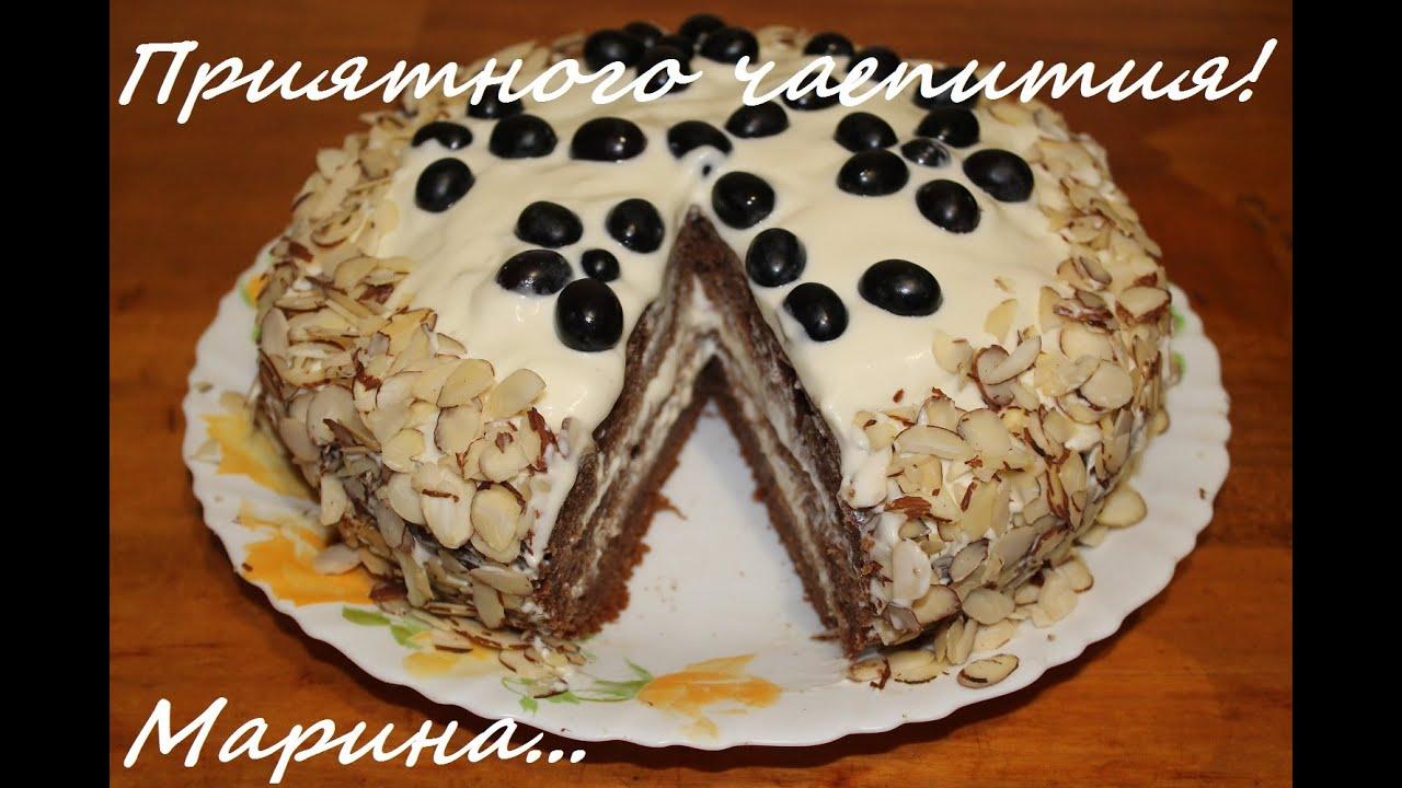 торт со сметанным кремом,в мультиварке,супер рецепт