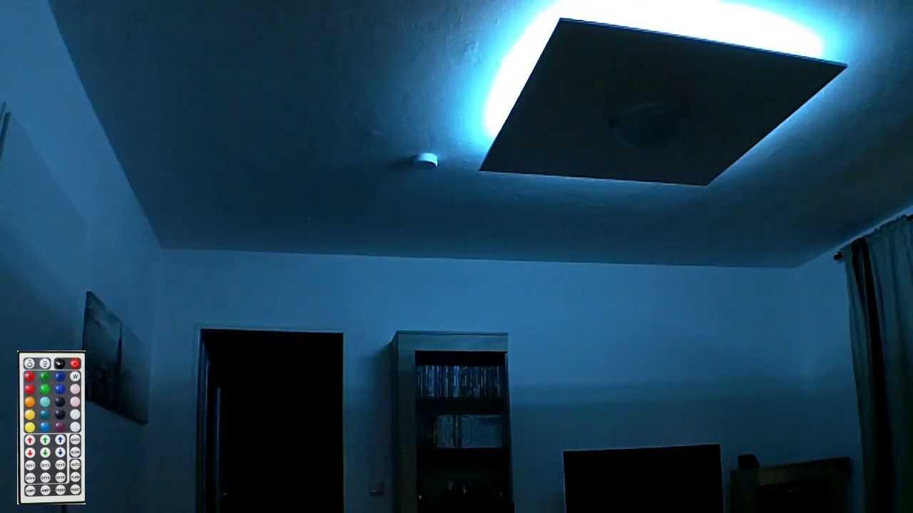 RGB LED Deckenlampe  indirekte Beleuchtung  YouTube