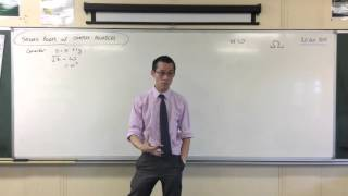 Square Roots of Complex Numbers (1 of 2: Establishing their nature)