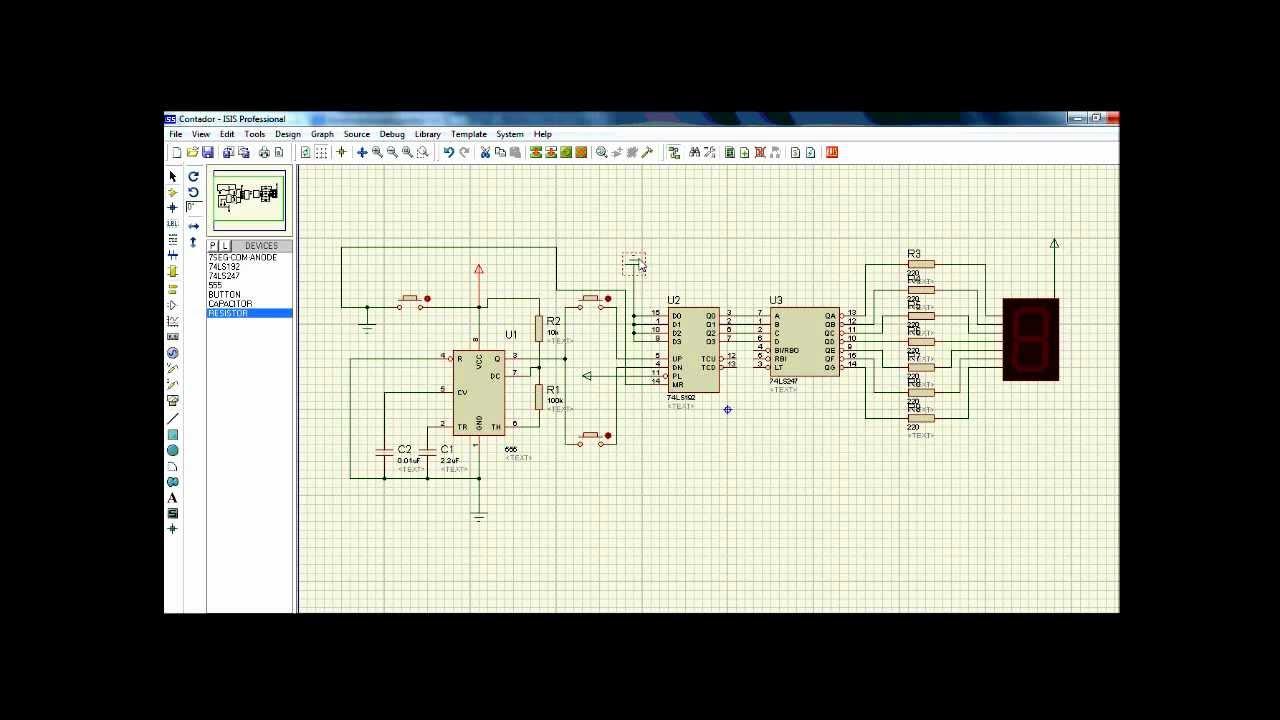 Circuito Electronico : Circuito electrónico contador youtube