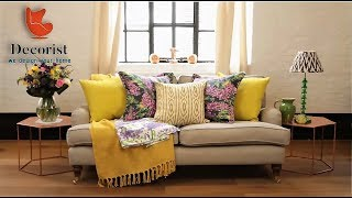 طرق جميله ومختلفه لتوزيع الوسائد والمخدات How To Style Cushions On Sofa Youtube