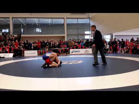 2015 Senior National Championships: 57 kg Dylan Bray vs. Aso Palani