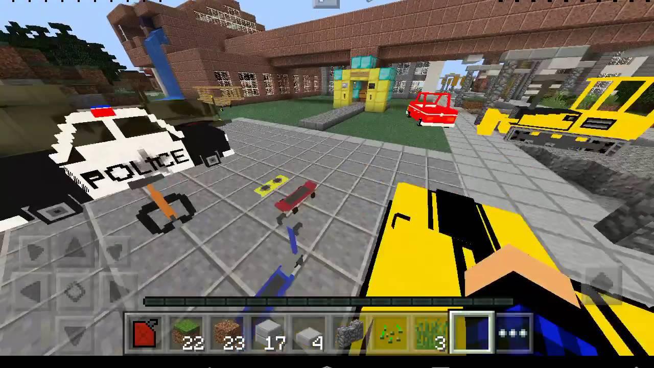 Minecraft pe мод на транспорт