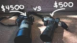 Sony a6000 vs Sony a9, I compare these two very different cameras w...