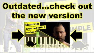 maroon 5 memories piano tutorial (slow version)