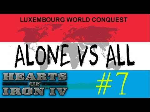LUXEMBOURG VS ALL | World Conquest #7 ★ Hearts of Iron 4 ★