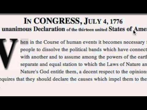 Lines from The Declaration of Independence