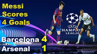 Barcelona vs arsenal 2010 champions league - quater final 2nd leg score : barca 4 1. lionel messi produced a mesmerising master-class to end a...
