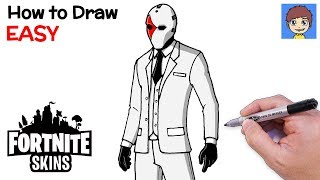 How to Draw Fortnite WILD CARD Step by Step - Fortnite Skins Drawing