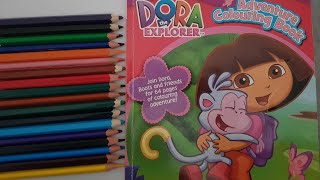 learn colors|Dora The explorer adventure skating coloring page|crayola colored Crayons|dora coloring