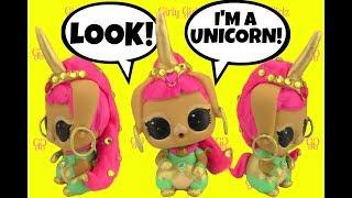 LOL Surprise Pet BUNNY WISHES UNICORN CUSTOM + Cute Doll Story Video by Girly Girlz