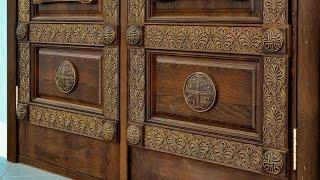 Двери из массива дуба с резьбой(Арочные двери из дуба с резьбой на заказ. Все работы на сайте www.rostov-derevo.ru., 2016-03-18T09:55:13.000Z)