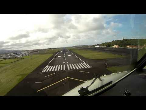 Landing in Lajes, Terceira Island - Azores