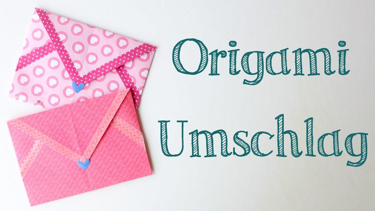 Brief Falten Ohne Kuvert : Origami umschlag falten ganz einfach kuvert basteln
