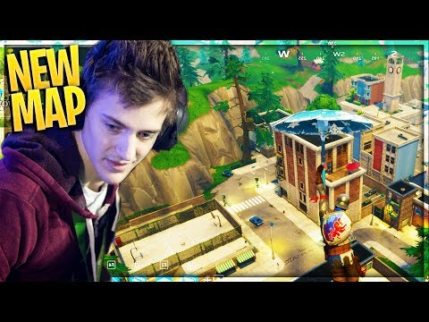 NINJA FIRST TIME ON NEW FORTNITE MAP! - Fortnite NEW UPDATE Gameplay In NEW CITY!