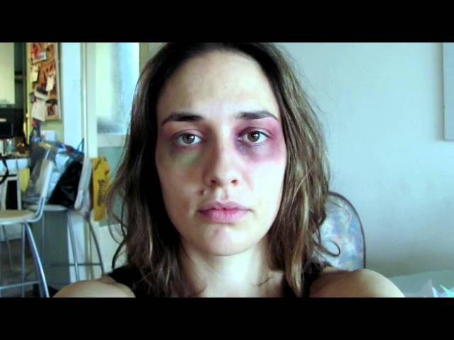 Serbian woman takes self pictures daily while being beaten