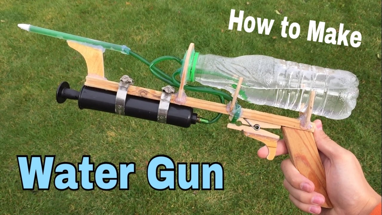 How To Make A Water Gun At Home Very Powerful Easy Way
