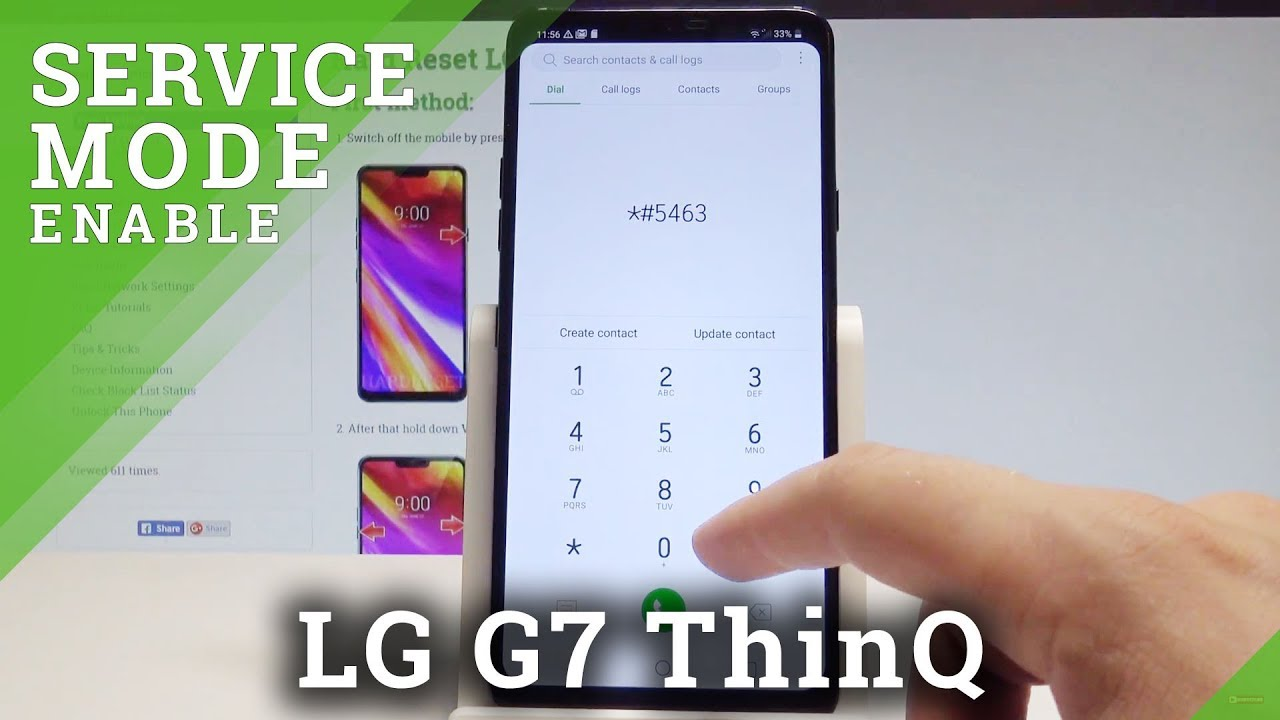 How to Enable Service Menu in LG G7 ThinQ - Hidden SVC Menu |HardReset Info
