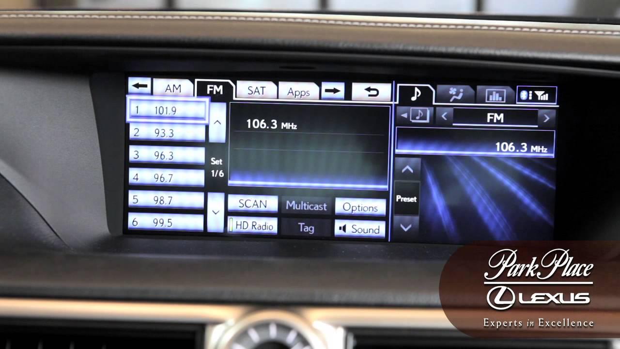 Lexus Radio How To Choosing Preset Stations Youtube
