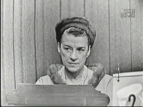 What's My Line? - Beatrice Lillie; Jack O' Brien; John Cameron Swayze [panel] (Nov 4, 1956)