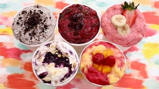 Homemade FROZEN YOGURT in 5 Minutes (No Ice Cream Machine): 5 New Flavors! Bigger Bolder Baking