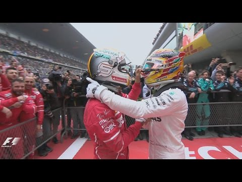 F1 2017 | Chinese GP Post-Race: Sebastian Vettel and Lewis Hamilton in parc ferme