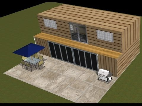 Shipping container house design project 2