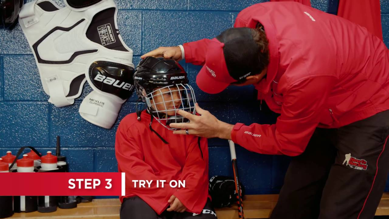How To Fit A Hockey Helmet 7 Steps Youtube