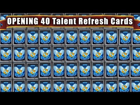 Castle Clash : Opening 40 Talent Refresh Cards