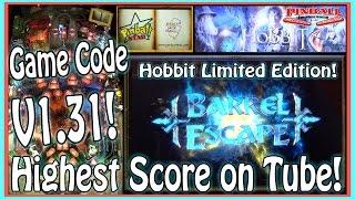 The HOBBIT LE Pinball Machine V1.31 ~ MAT Scores 3,094,251 ~ GAMEPLAY!