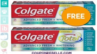 Couponing at Walgreens FREE Colgate Toothpaste 10-2-16