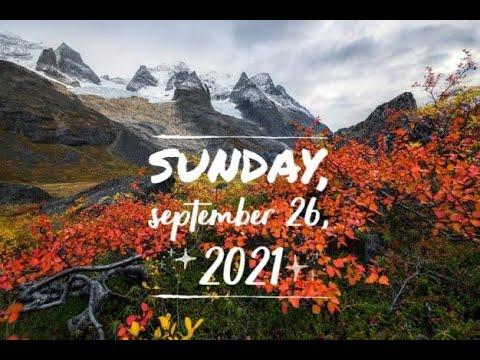Virtual Sunday Service - September 26, 2021