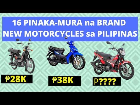 16 PINAKAMURA Na MOTORCYCLE Sa PILIPINAS | BRAND NEW CHEAPEST MOTOR PRICE LIST 2020