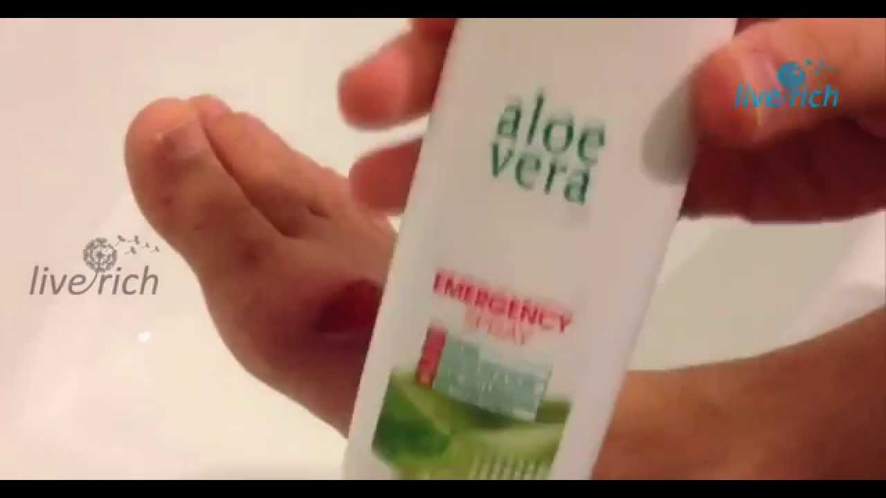 lr aloe vera emergency spray youtube. Black Bedroom Furniture Sets. Home Design Ideas
