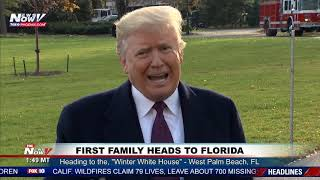 ALL ACCESS: President Trump Speaks To The Media Before Going To Mar-a-Lago In Florida