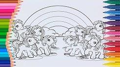 Lernen Sie Farben Durch das Färben von My Little Pony G3 Malvorlagen