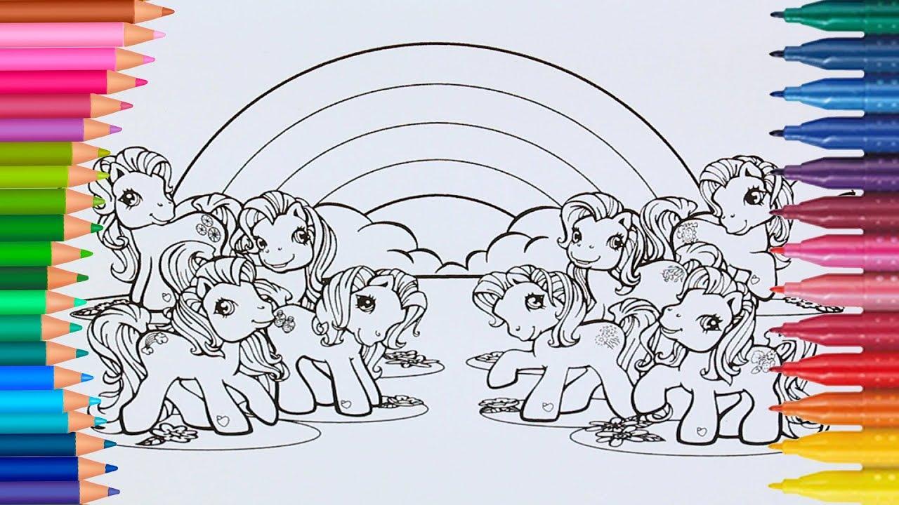 Lernen Sie Farben Durch das Färben von My Little Pony G3 Malvorlagen ...