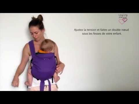 MEI-TAI : portage ventral avec pans sous les jambes de bébé - porte-bébé meï-tai   LING LING D'AMOUR