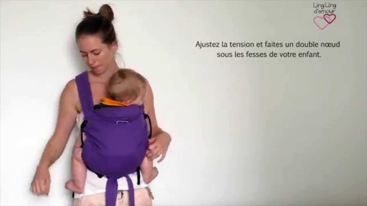 MEI-TAI   portage ventral avec pans sous les jambes de bébé - porte-bébé  meï-tai   LING LING D AMOUR - YouTube 9eee56633a7