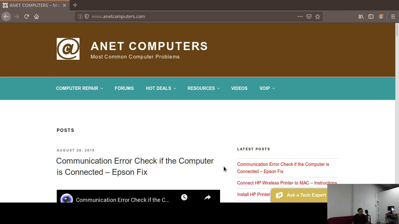 ANET COMPUTERS – Most Common Computer Problems