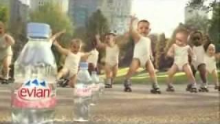 Funny Babies Roller Skating Evian.