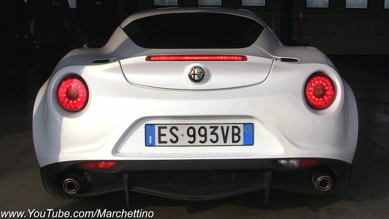 Alfa Romeo 4c Sound Start Rev And Accelerations