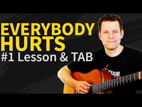 How to play Everybody Hurts Guitar Lesson & TAB - REM