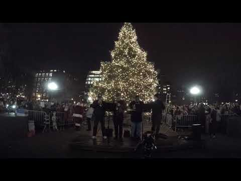 ⁴ᴷ Full Washington Square Park 2017 Tree Lighting Event